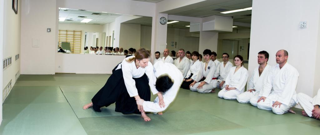 Выступление участников открытого мастер класса по айкидо