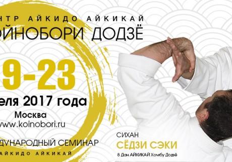 Видео семинара по айкидо С. Сэки сихана (8 дан), Москва-2017