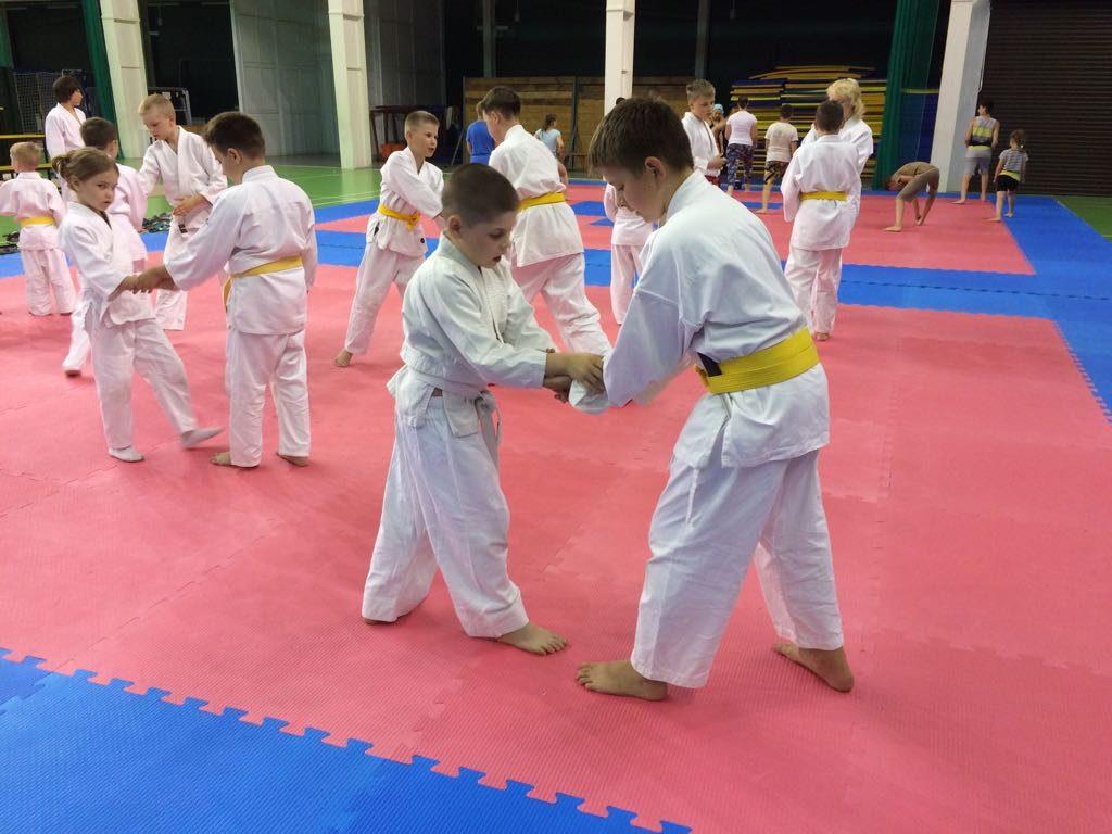 Детский спортивно-оздоровительный айкидо-лагерь на море, тренировка