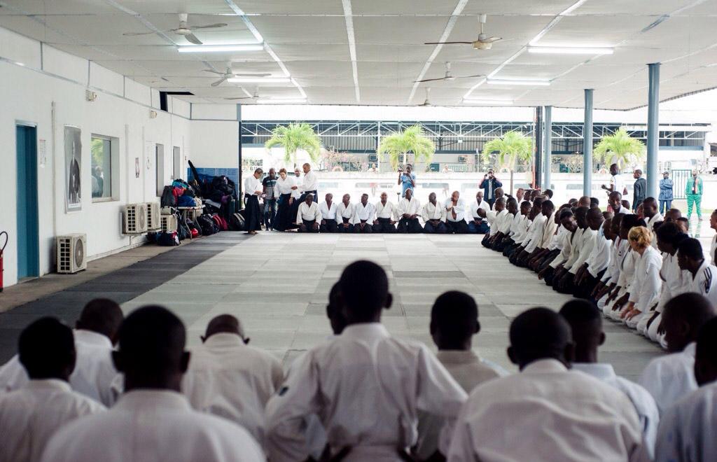 Первый международный семинар по айкидо Aйкикай в Центральной Африке