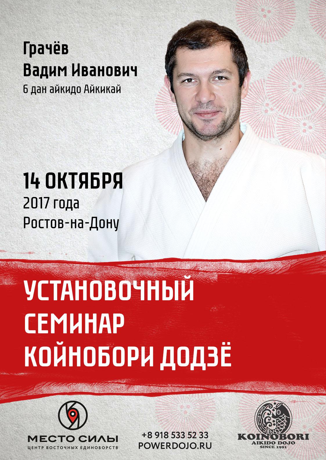 Аттестационный семинар по айкидо Койнобори Додзё в Ростове-на-Дону