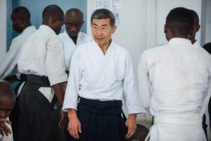 Сэки сихан на айкидо семинаре в Конго
