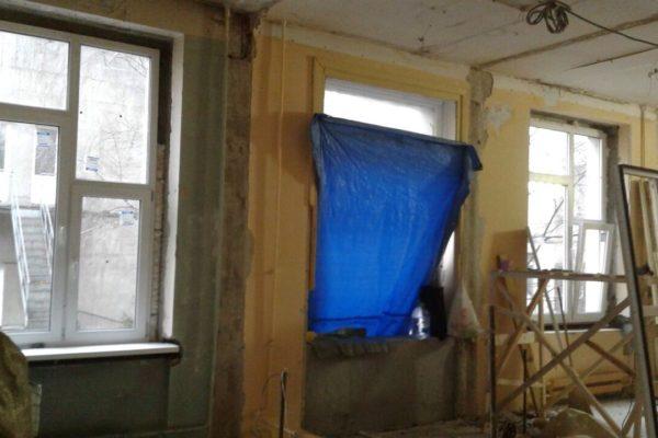 Ремонт нового зала Koйнобори Додзё