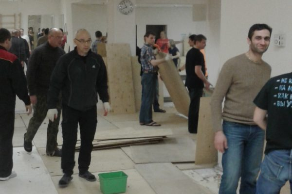 Демонтаж зала на Динамо