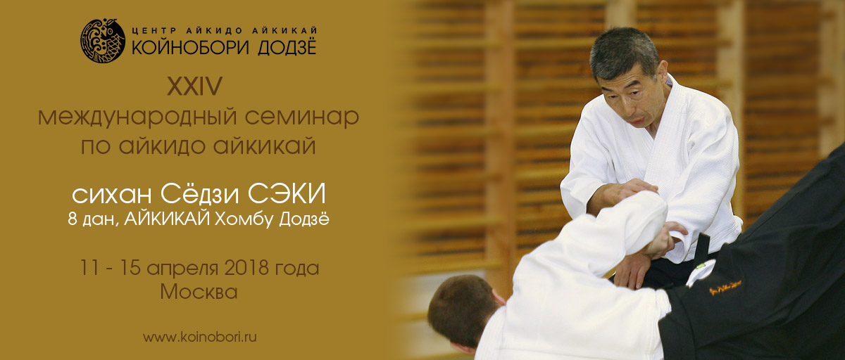Постер к семинару С. Сэки сихана, 8 дан, 2018