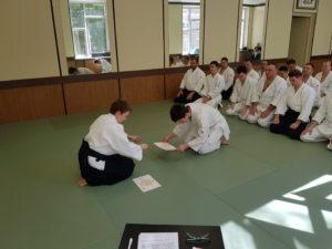 Весенний взрослый экзамен по айкидо Койнобори Додзё 26.05.2018