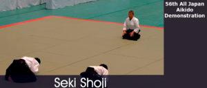 Выступление С. Сэки сихана, 8 дан, на 56 Всеяпонском фестивале айкидо