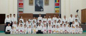 Детская тренировка с сиханом C. Сэки (8 дан) на XXV международном семинаре в Москве